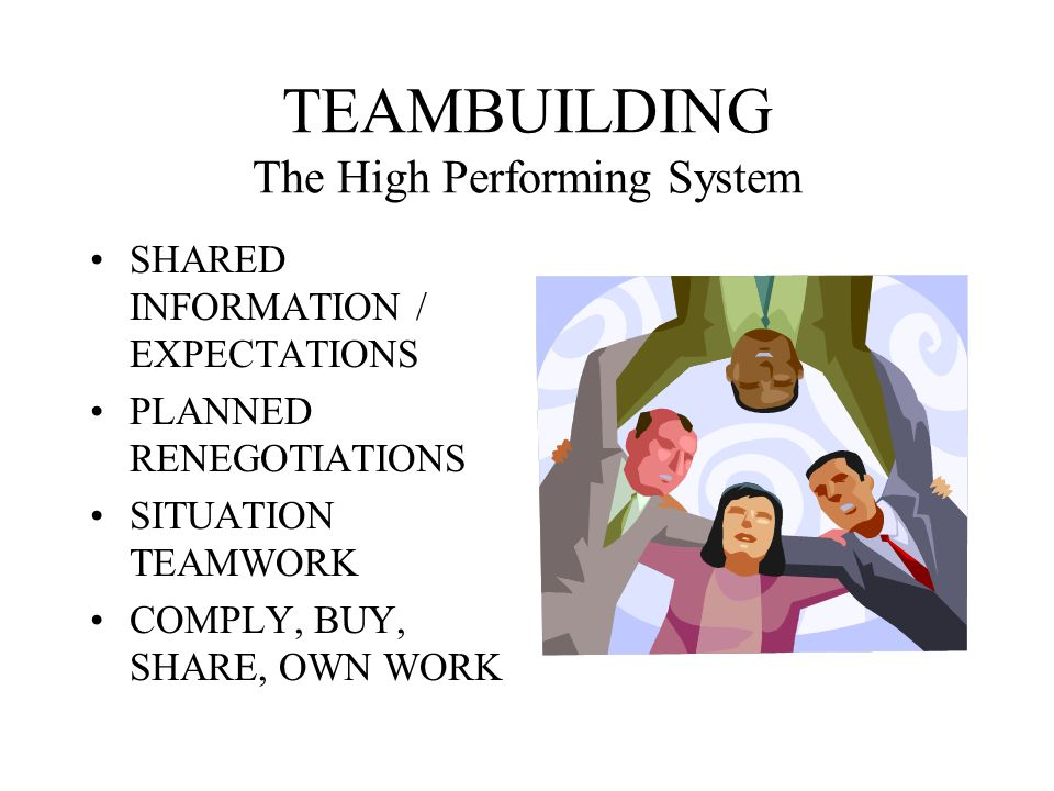 TEAMBUILDING The High Performing System