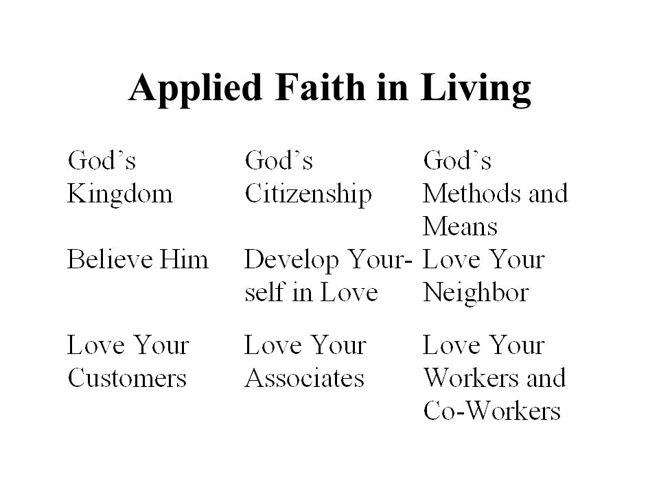 Applied Faith in Living