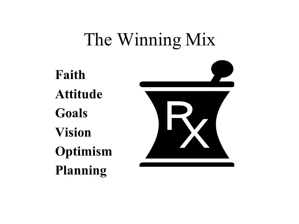 The Winning Mix Faith Attitude Goals Vision Optimism Planning