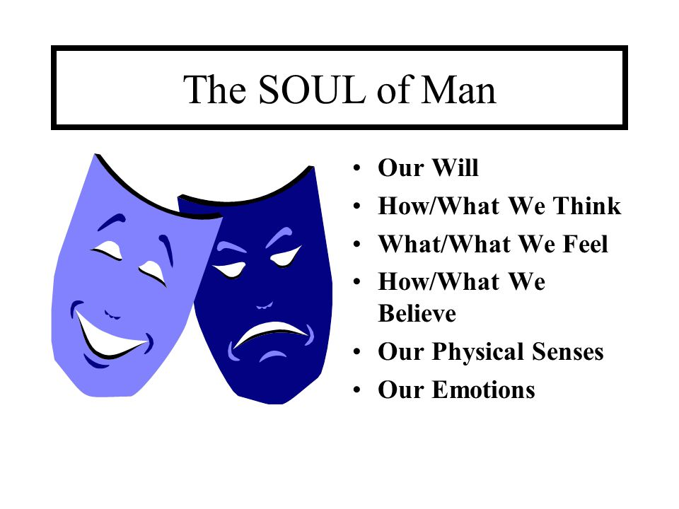 The SOUL of Man Our Will How/What We Think What/What We Feel