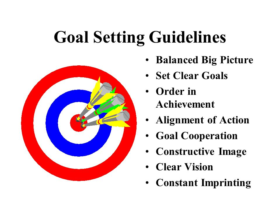 Goal Setting Guidelines