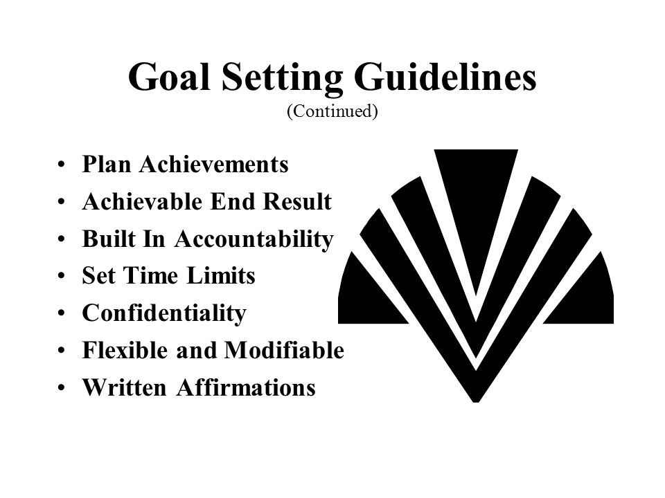 Goal Setting Guidelines (Continued)