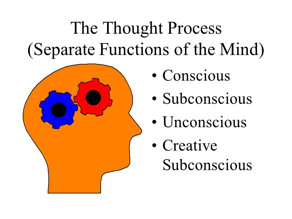 The Thought Process (Separate Functions of the Mind)