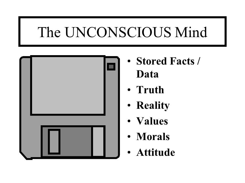 The UNCONSCIOUS Mind Stored Facts / Data Truth Reality Values Morals