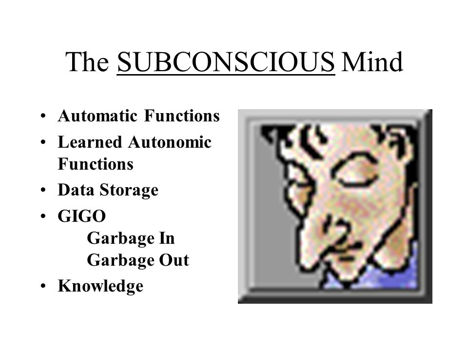 The SUBCONSCIOUS Mind Automatic Functions Learned Autonomic Functions