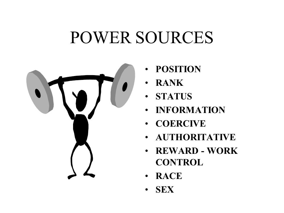 POWER SOURCES POSITION RANK STATUS INFORMATION COERCIVE AUTHORITATIVE