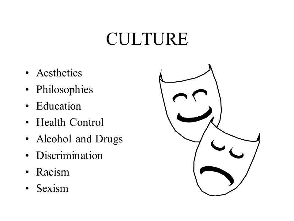 CULTURE Aesthetics Philosophies Education Health Control
