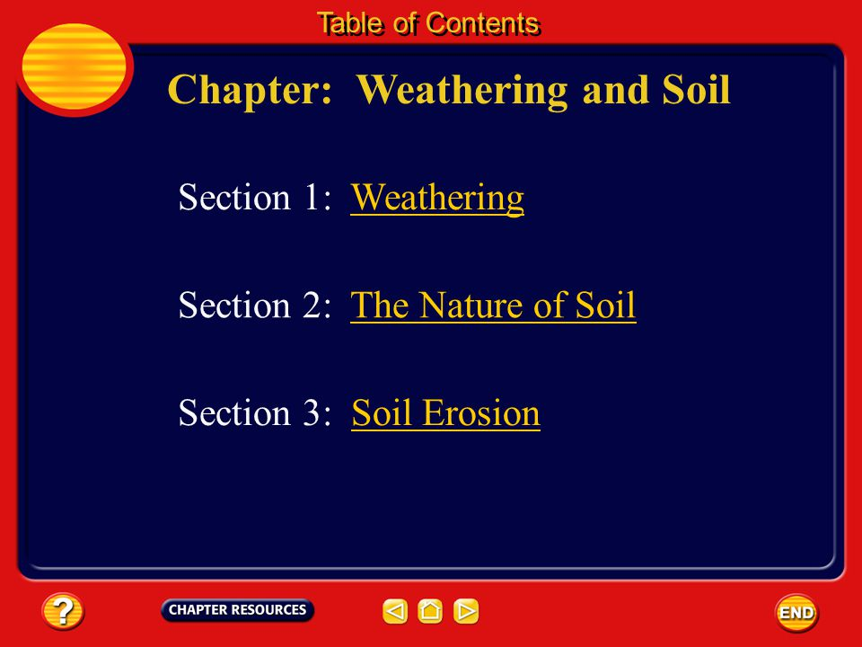 Chapter: Weathering and Soil