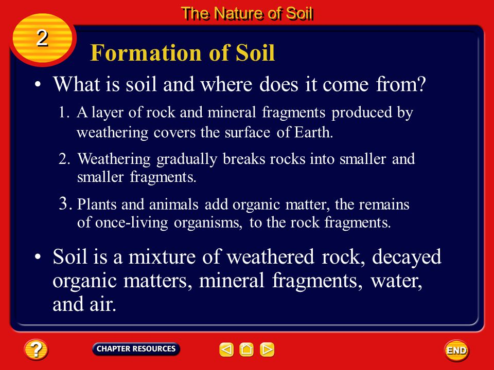 Formation of Soil 2 What is soil and where does it come from