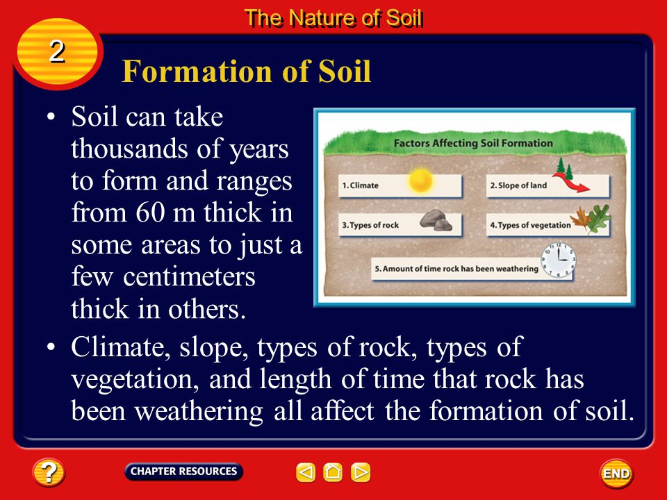 The Nature of Soil 2. Formation of Soil.