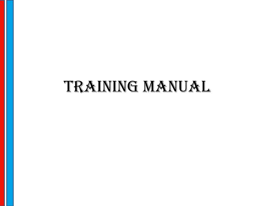 Training Manual  Ppt Download