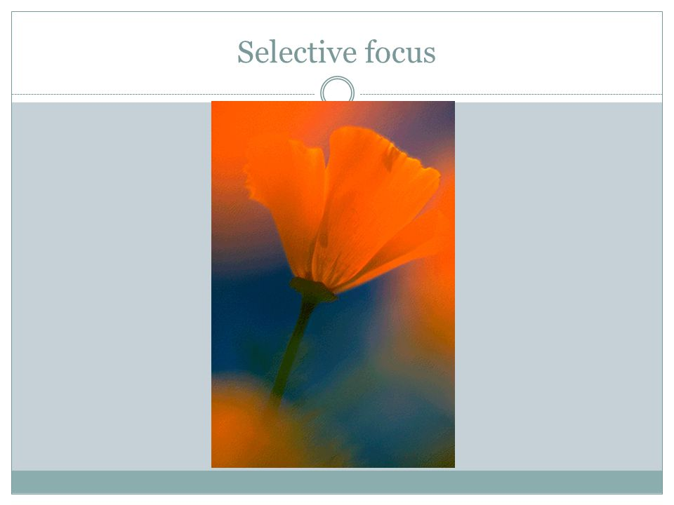 Selective focus