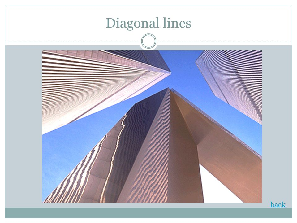 Diagonal lines back