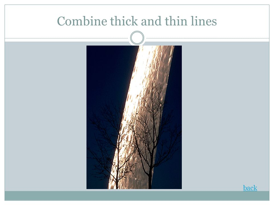 Combine thick and thin lines