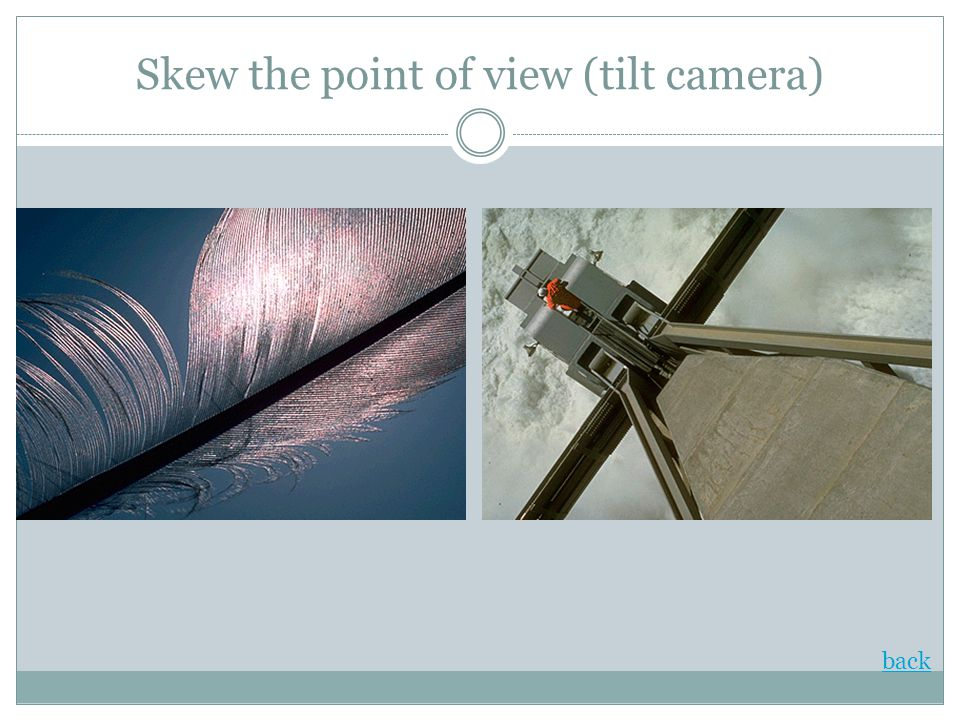 Skew the point of view (tilt camera)