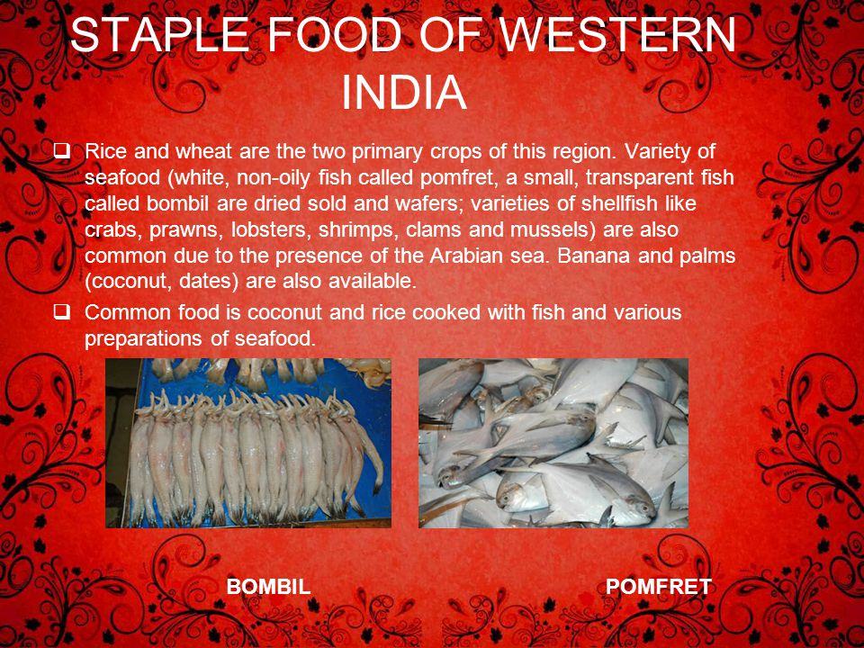 STAPLE FOOD OF WESTERN INDIA