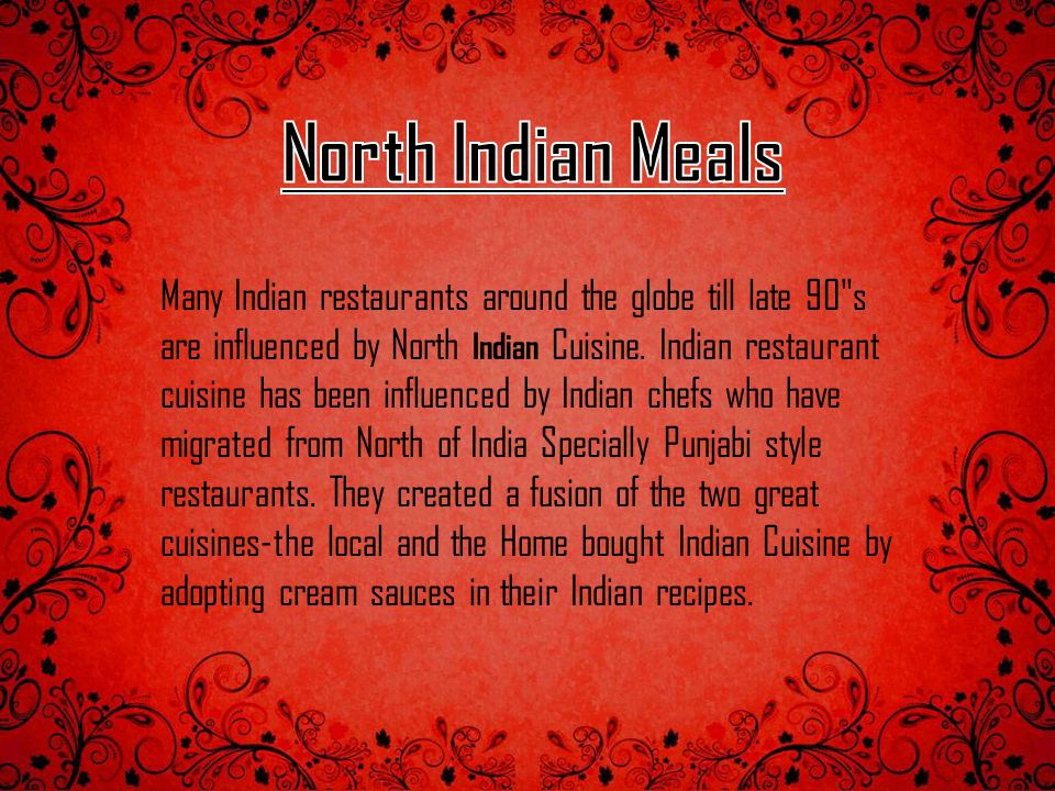 North Indian Meals