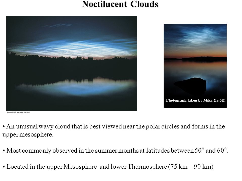Noctilucent Clouds Photograph taken by Mika Yrjölä.