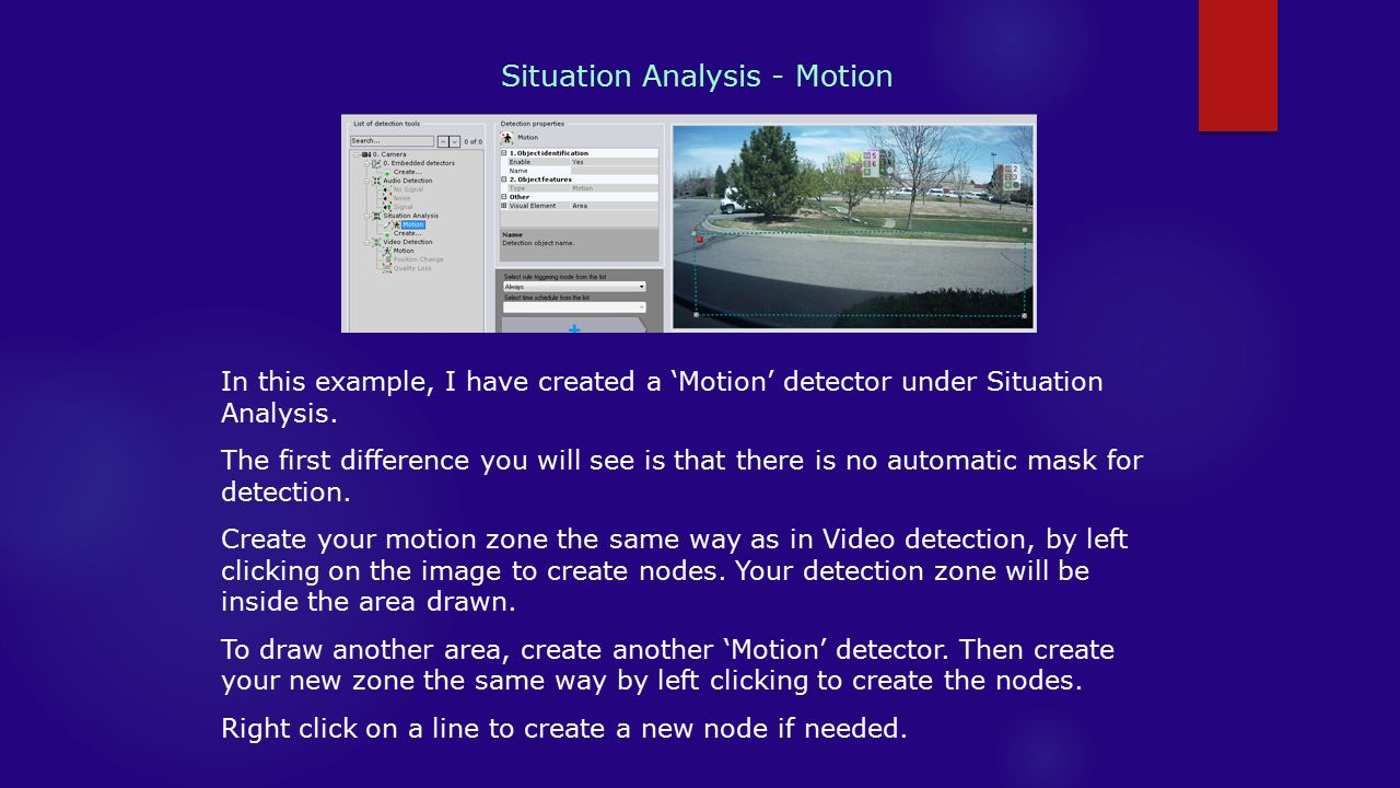 Situation Analysis - Motion