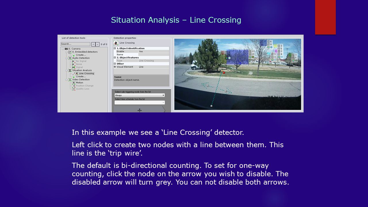 Situation Analysis – Line Crossing