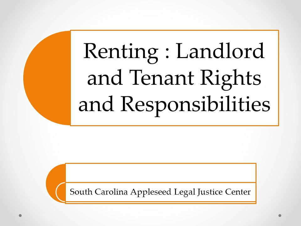 Renting : Landlord and Tenant Rights and Responsibilities