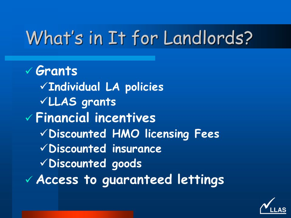 What's in It for Landlords