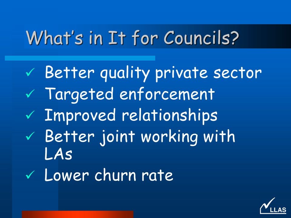 What's in It for Councils