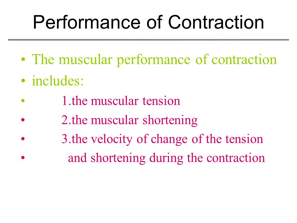 Performance of Contraction
