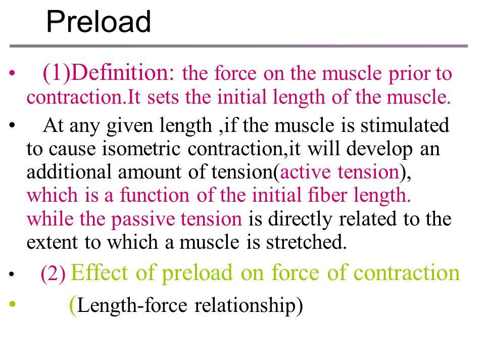Preload (Length-force relationship)