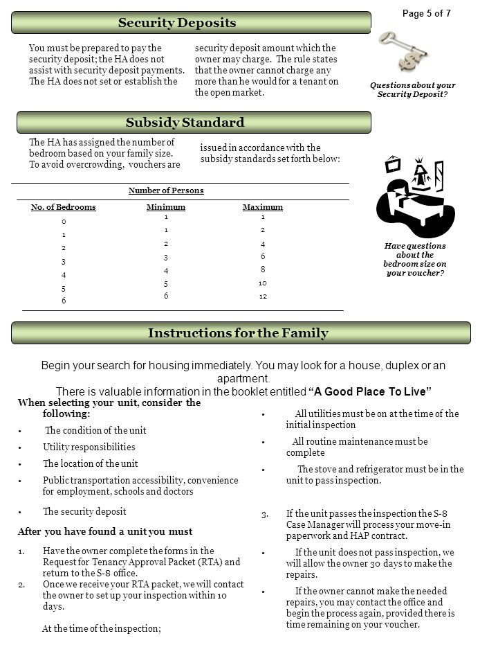 Subsidy Standard Instructions for the Family