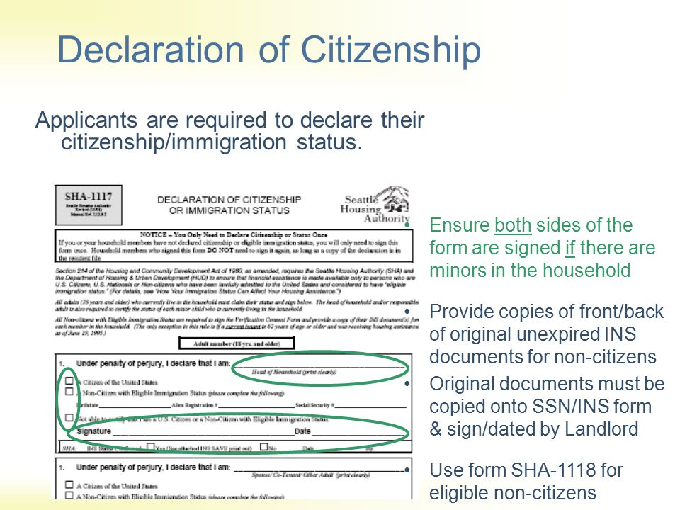 Declaration of Citizenship