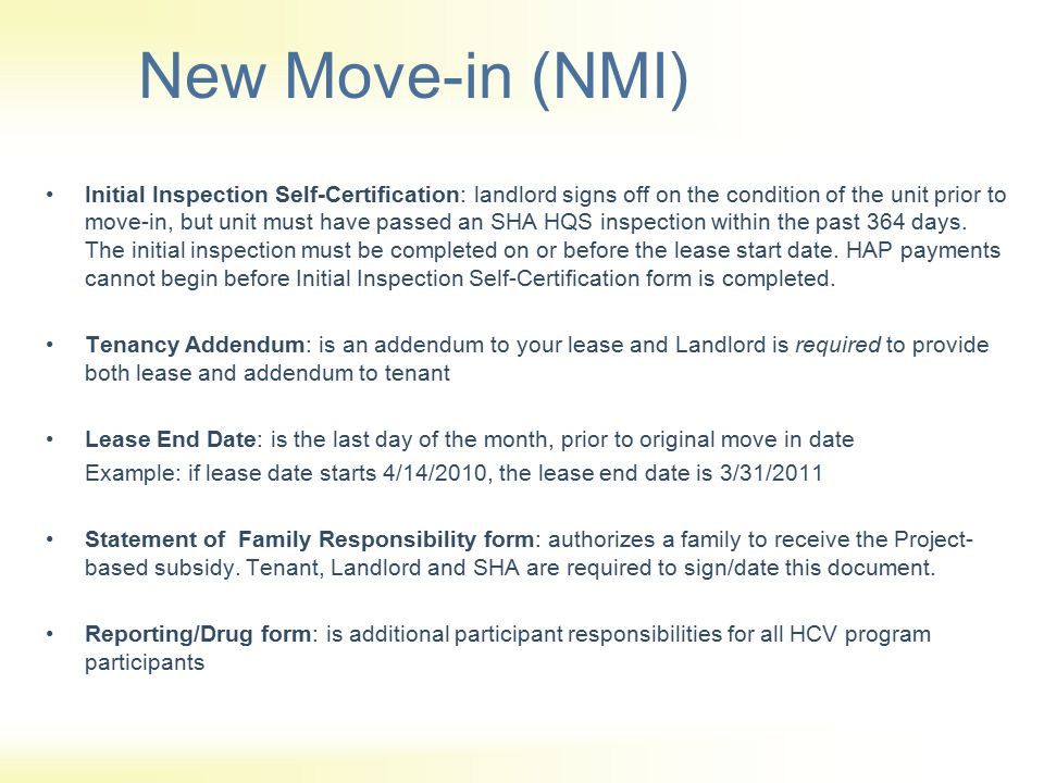 New Move-in (NMI)