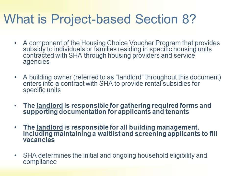 What is Project-based Section 8