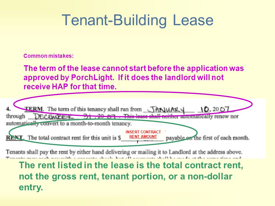 Tenant-Building Lease