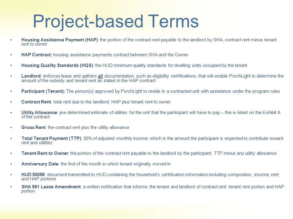 Project-based Terms