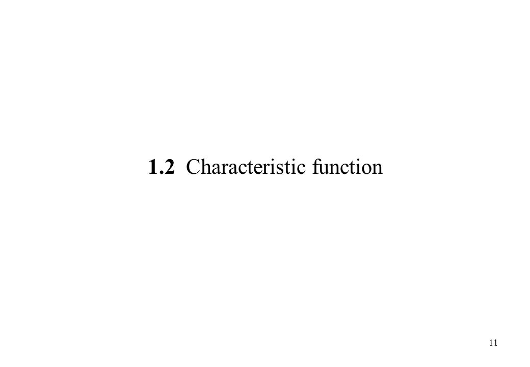 1.2 Characteristic function