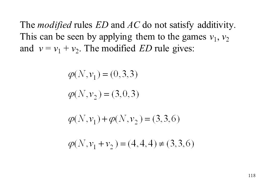The modified rules ED and AC do not satisfy additivity