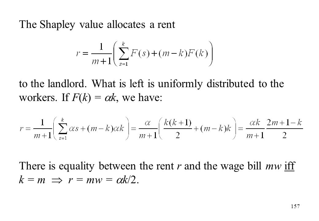 The Shapley value allocates a rent