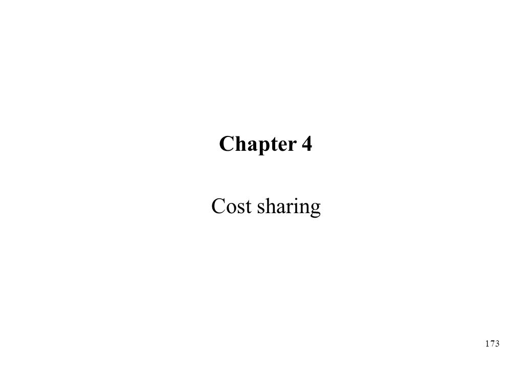 Chapter 4 Cost sharing
