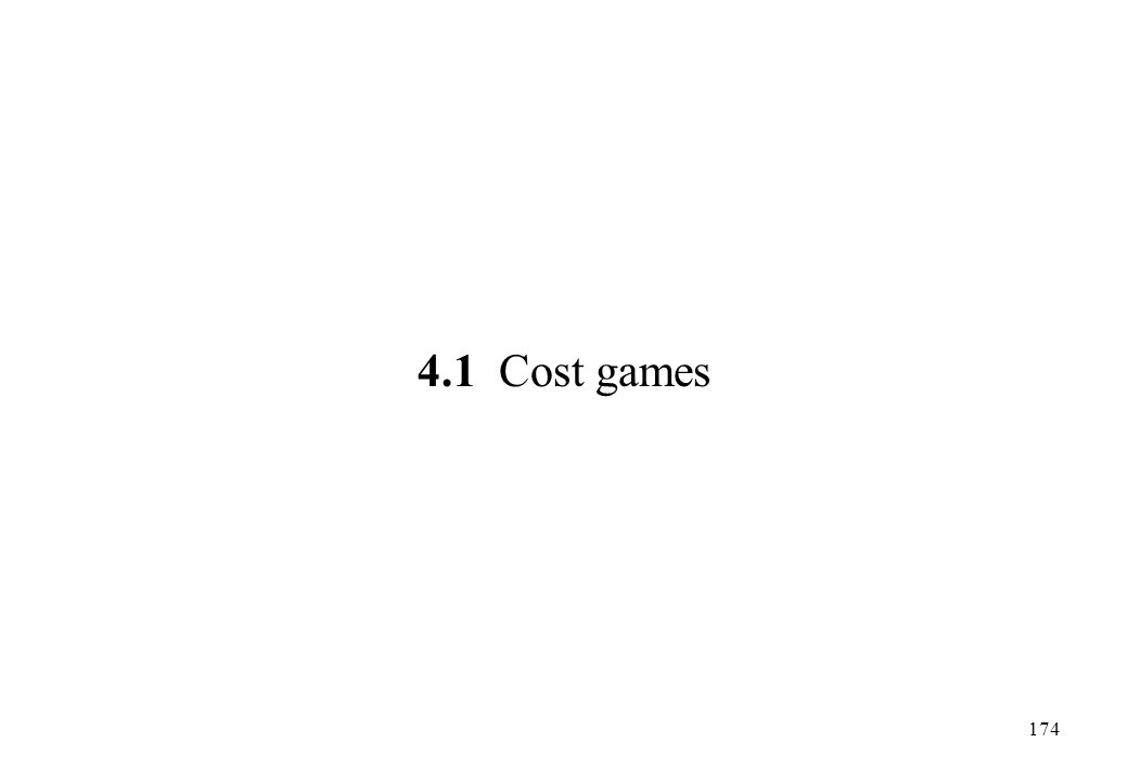 4.1 Cost games