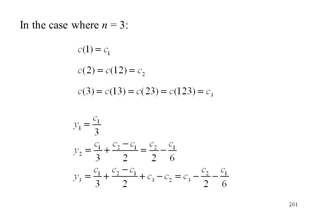 In the case where n = 3: