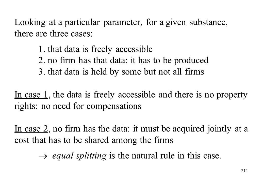 Looking at a particular parameter, for a given substance, there are three cases: