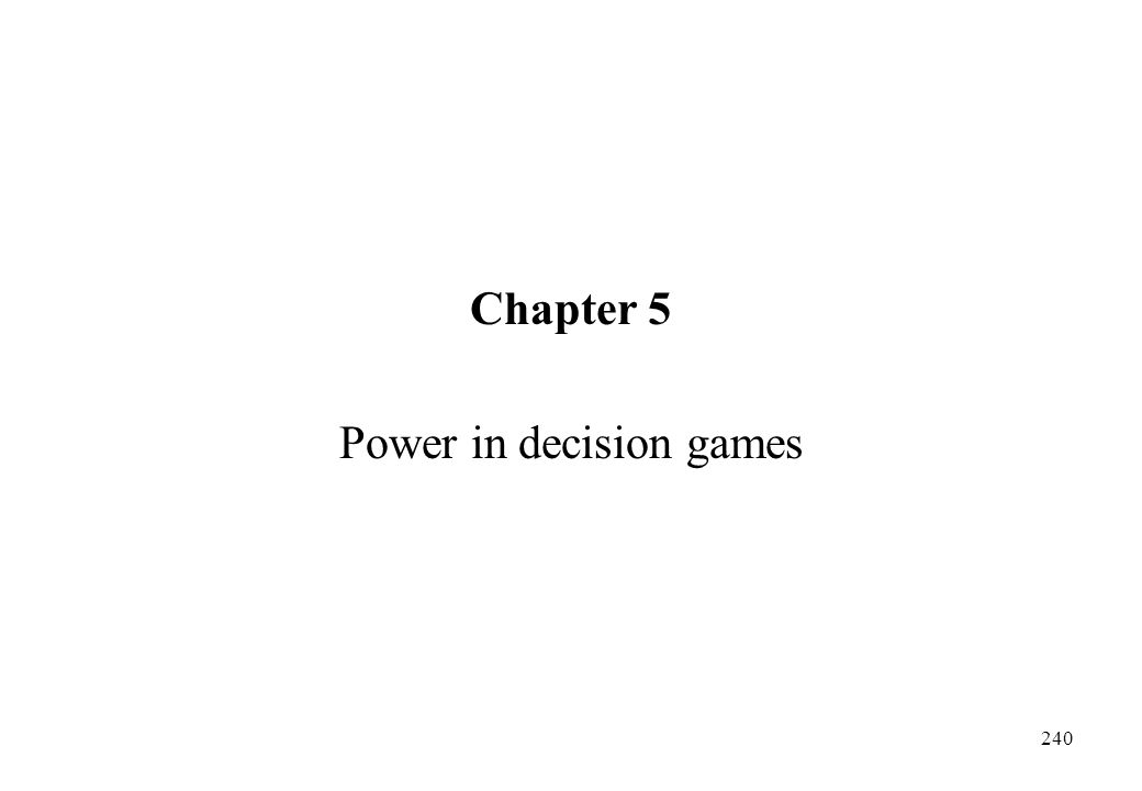 Power in decision games