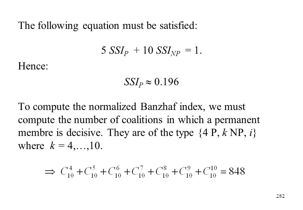 The following equation must be satisfied: