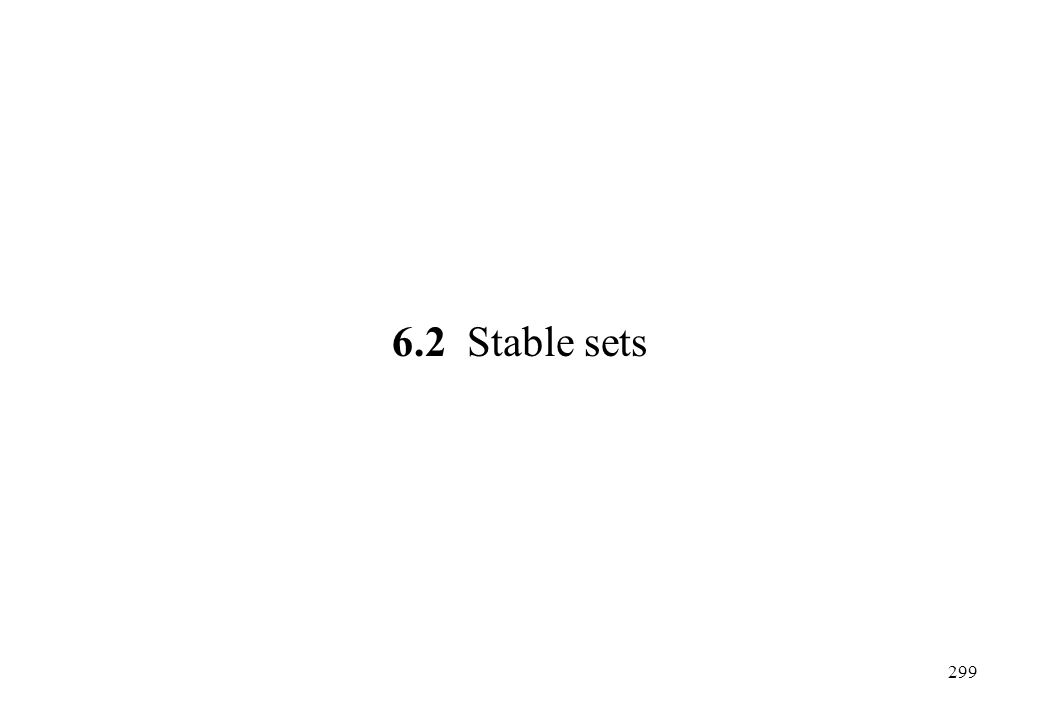6.2 Stable sets