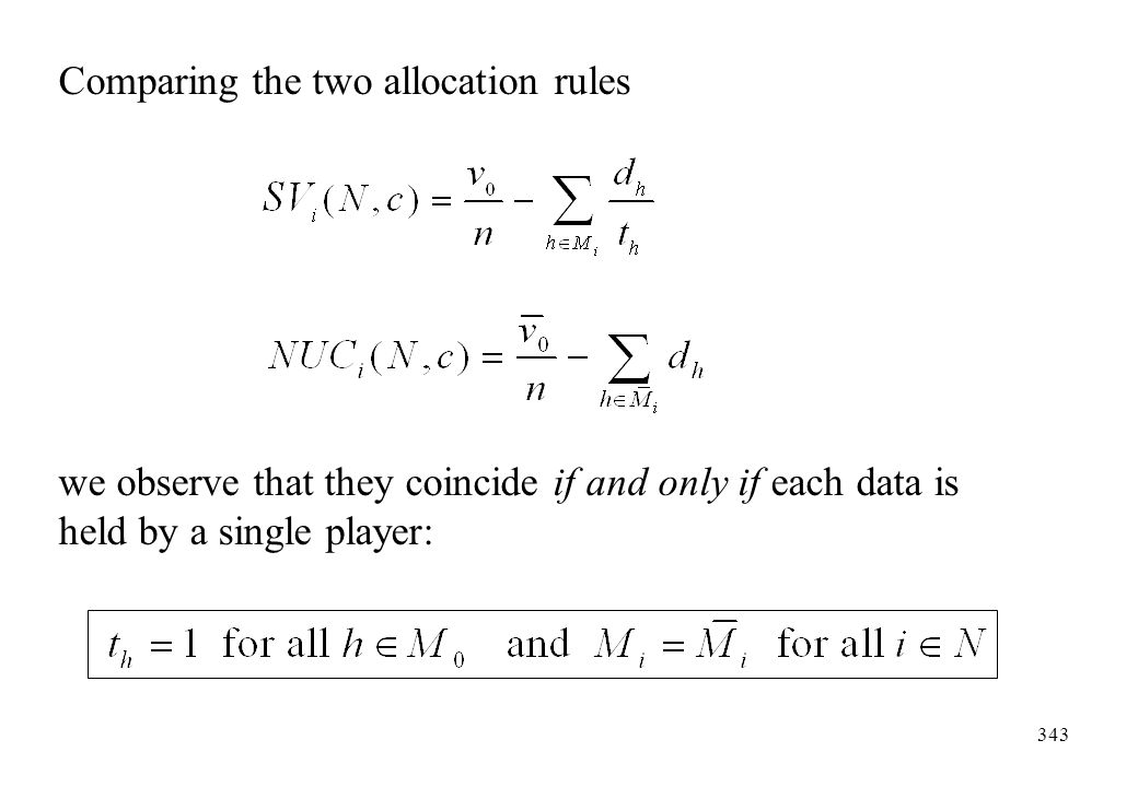 Comparing the two allocation rules