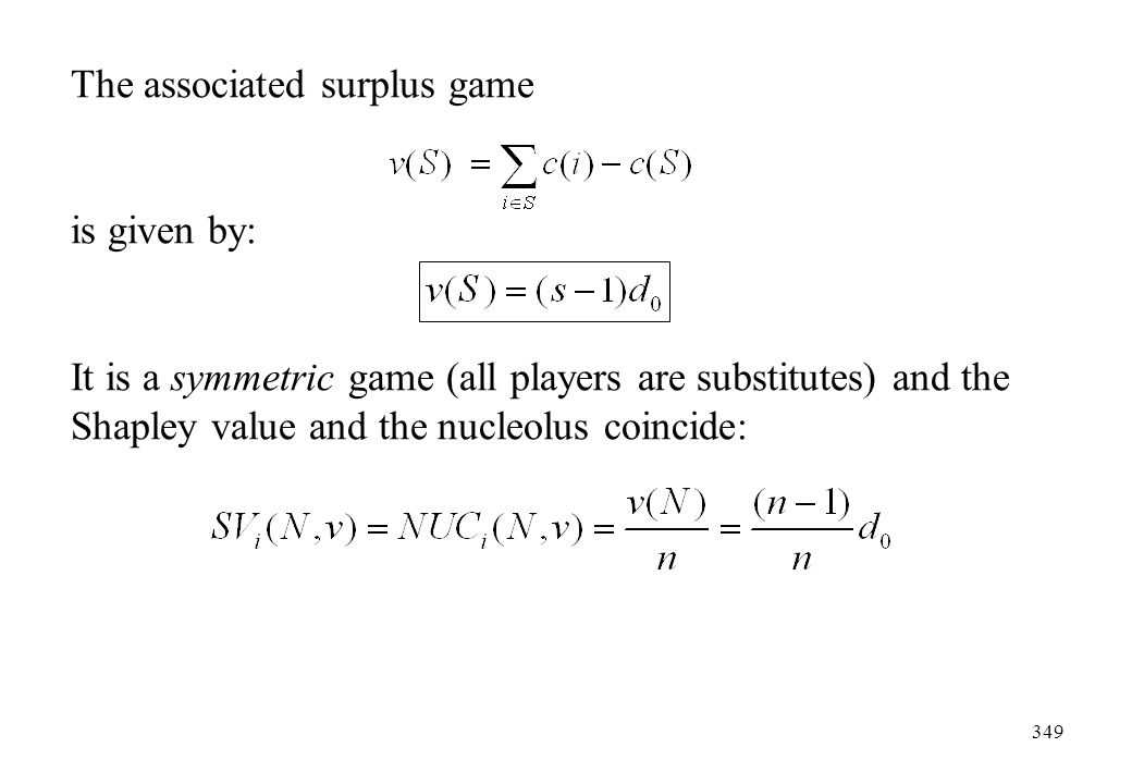 The associated surplus game