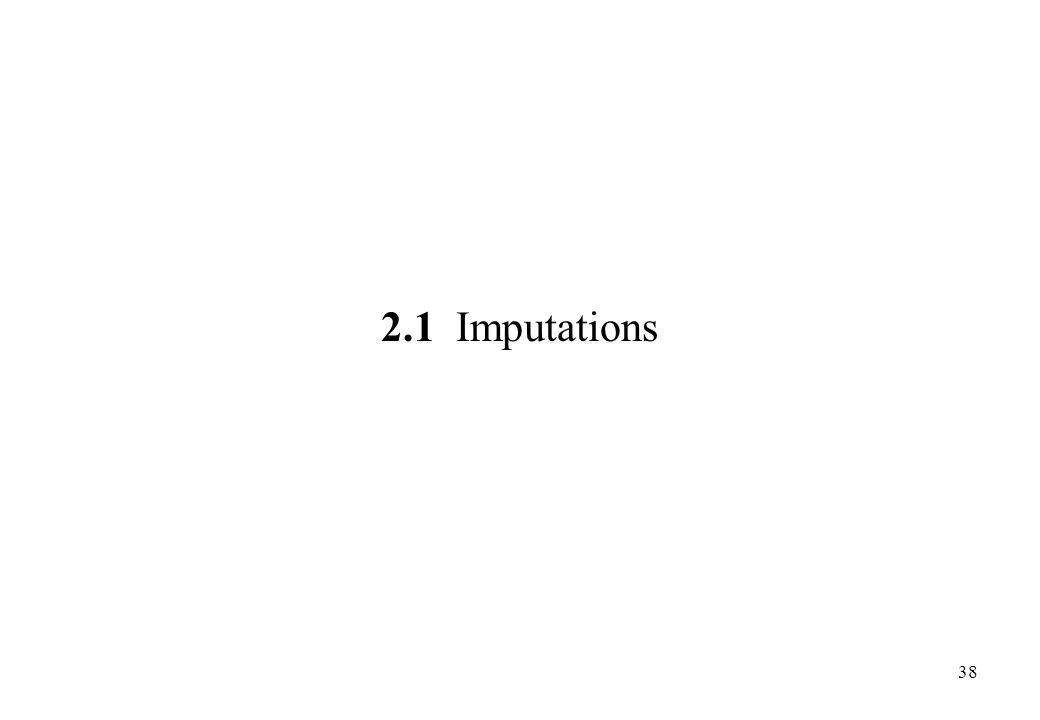 2.1 Imputations