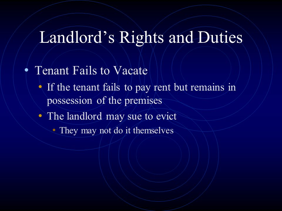 Landlord's Rights and Duties