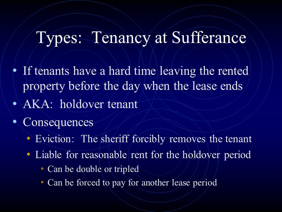Types: Tenancy at Sufferance